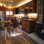 Cottage #15: Open floor plan kitchen, custom made cabinets, granite counter-tops, stainless steel appliances